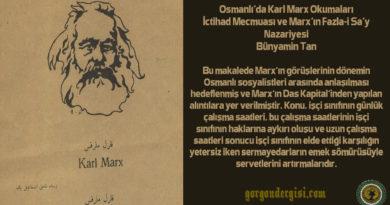 Osmanlı'da Karl Marx Okumaları: İctihad Mecmuası ve Marx'ın Fazla-i Sa'y Nazariyesi