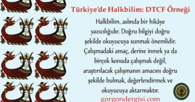 Türkiye'de Halkbilim: DTCF Örneği